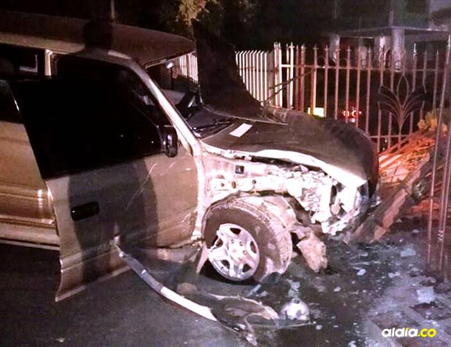 La camioneta fue inmovilizada hasta tanto responda por los daños ocasionados | ALDÍA