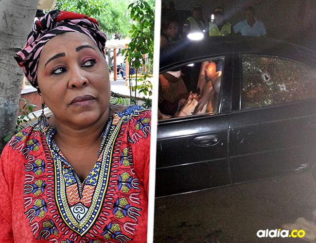 La presidenta de la Federación de Campesinos se movilizaba con dos personas más en el vehículo, cuando fueron atacados   Cortesía