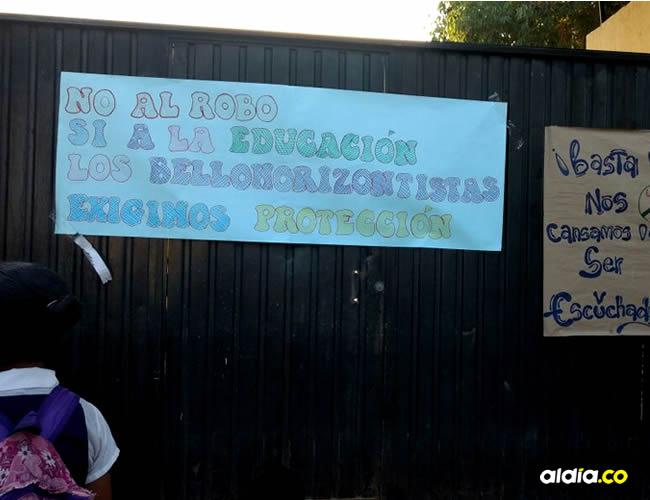 Delincuentes del sector serían los que vienen cometiendo atracos en la Institución Bello Horizonte | Néstor De Ávila y archivo particular