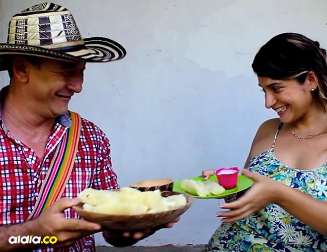 Silvana Hernández Verbel y José Bernardo Arrieta González, en las escenas del video que estuvieron cargadas de romanticismo | Captura