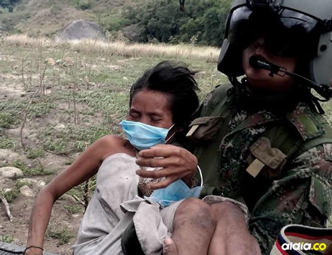 La familia fue trasladada en un helicóptero hasta un centro asistencial en Valledupar | Ejército Nacional