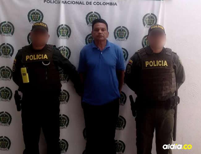 José Rafael Collazos fue trasladado hasta la estación de la Policía en Pivijay | Cortesía