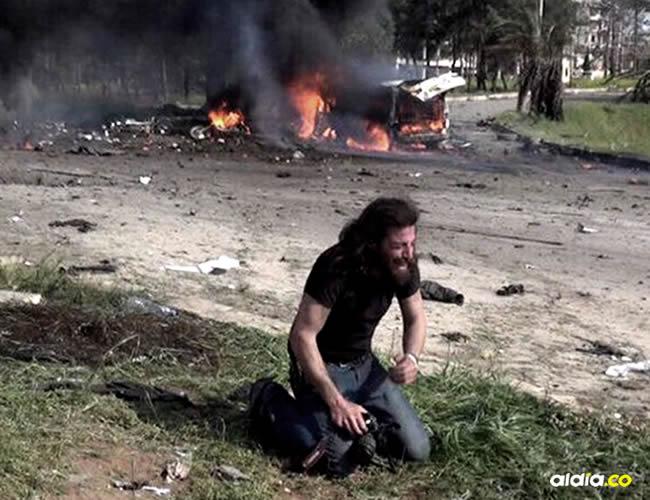 Su rol de fotógrafo cambio cuando un carro bomba explotó cerca de los buses | Cortesía