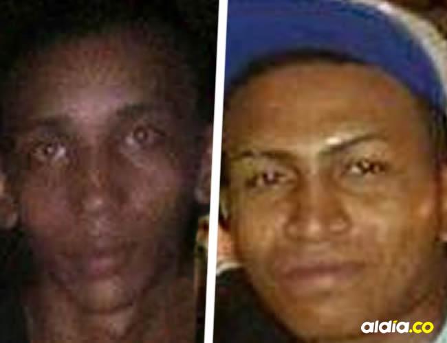 Estos hombres fueron identificados por las autoridades como Jorge Eliécer Gutiérrez de 18 años y Óscar Eduardo Viloria Ríos de 20 | Cortesía