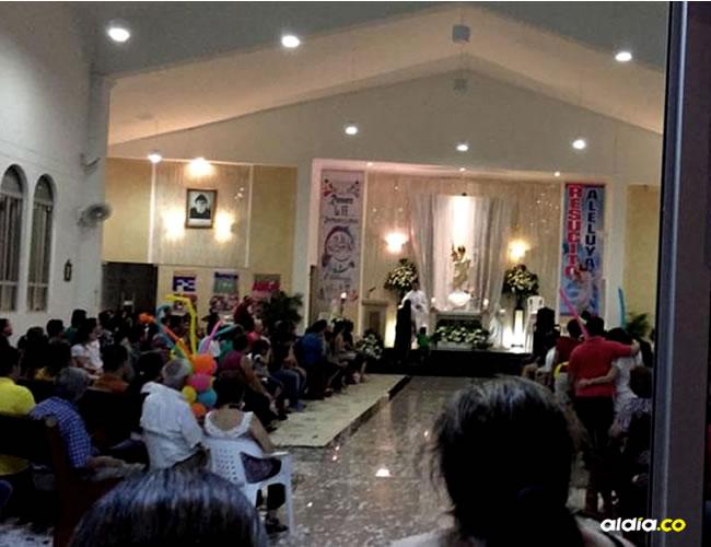 Feligreses este domingo en la parroquia de San Charbel, en la carrera 71 con calle 91A   Cortesía