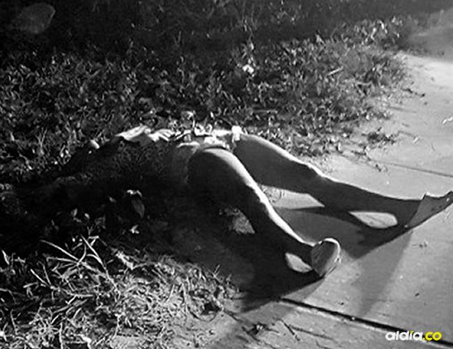 Informó que al parecer a la mujer la asesinaron en otro lugar | ALDÍA
