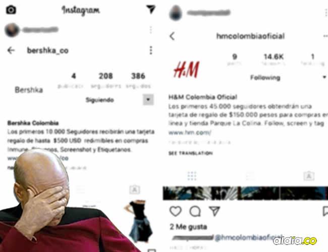 Usuarios en Instagram que han compartido y seguido las cuentas de las promociones   Instagram