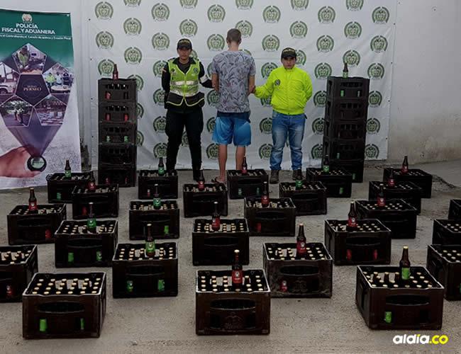 En el procedimiento fueron incautadas 1.710 botellas de cerveza marca Surf Monkey | Cortesía