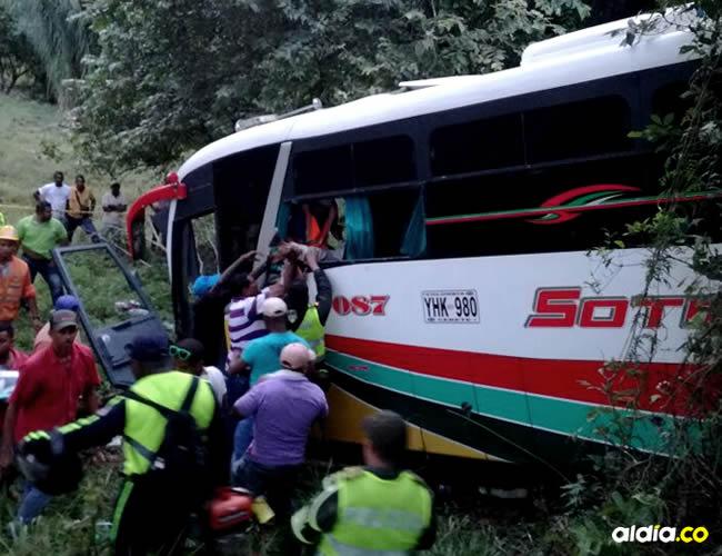 En el lamentable hecho resultaron heridas 21 personas, cuatro de ellas menores de edad y cinco ilesos | ALDÍA