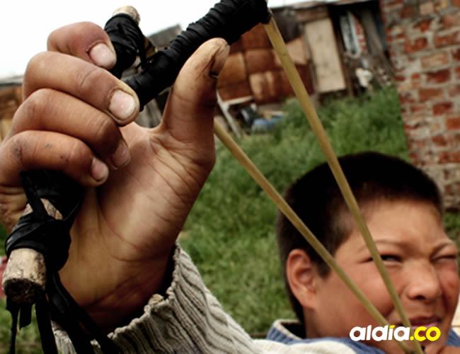El joven usaba una honda y arpones para la caza de iguanas | Cortesía
