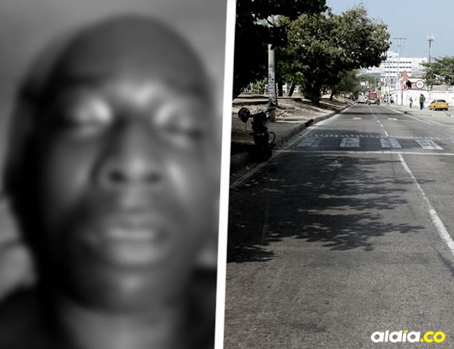 Jaime Moreno fue arrollado por carro en este lugar de Cartagena | Cortesía