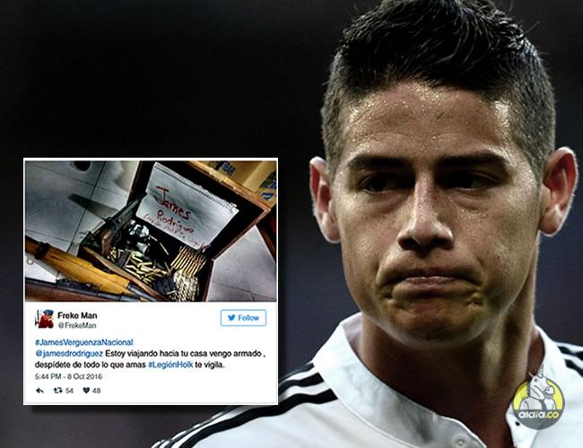 La estrella de la Selección Colombia y 10 del R. Madrid fue blanco de un ataque por Twitter | AlDía.co