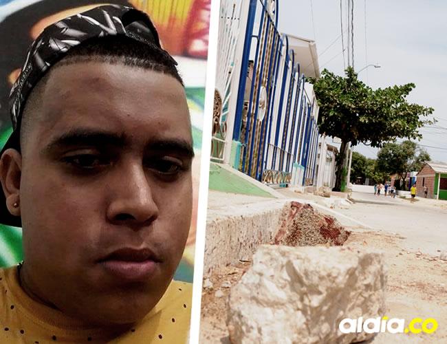 En la calle aún reposan las piedras ensangrentadas con las que asesinaron a Hernando López, de 23 años |  Jhony Olivares
