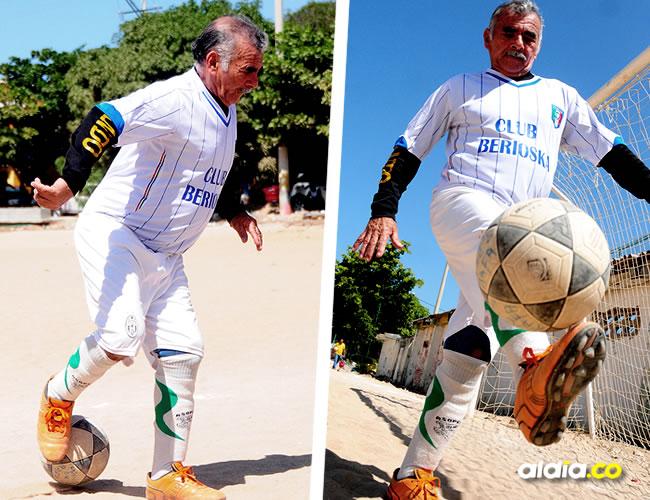 Germán Mendoza Imitola tiene el vigor intacto para su gran pasión: el fútbol