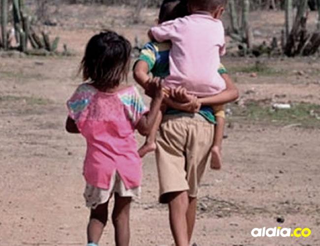 Los niños de La Guajira están expuestos a grandes peligros y riesgo en su diario vivir   Cortesía
