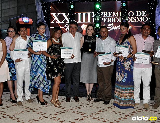 Los ganadores de las seis modalidades y los tres jurados del evento | ALDÍA