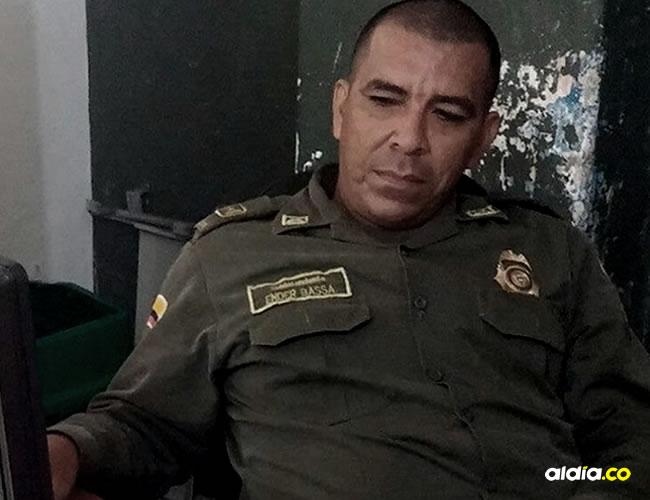 Según la Policía, Ender Bassa De la Hoz, oriundo de Luruaco, no estaba de servicio el día de la balacera.