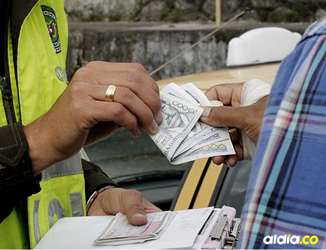 El agente pedía $100.000 para no ponerle un comparendo a un turista | Cortesía
