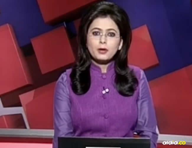 La presentadora informaba sobre un accidente automovilístico en el que murió su esposo | Captura