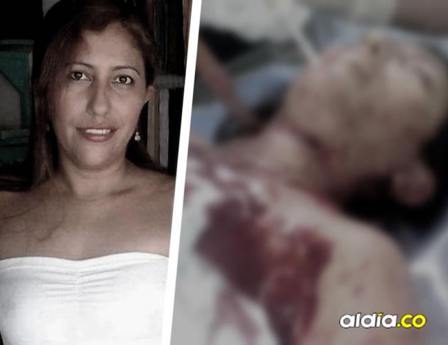El cuchillo quedó incrustado en el cuello de Marelis, que fue trasladada a una clínica en Montería | Cortesía