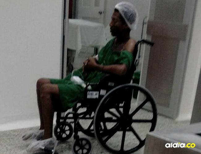 Ever González fue trasladado al Hospital Universitario del Caribe donde fue atendido.