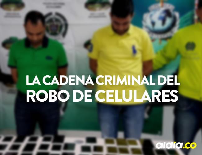 Ronald de Jesús Núñez Cuello y Andrés Eduardo Mazziri Cuello tenían 168 millones de pesos en celulares.