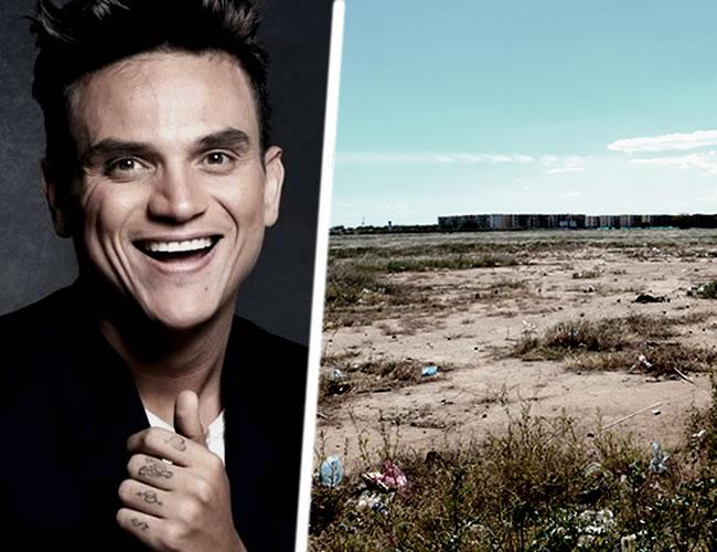 El artista escogió un lote baldío a lado de la urbanización Hernando Marín para lanzar su disco Gente Valiente | ALDÍA.CO