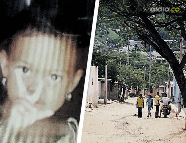 Estefanía Castro Pacheco, de 3 años, caminaba descalza por esta calle, cuando tocó el cable de energía que la electrocutó a las 6:30 a.m. de ayer.E