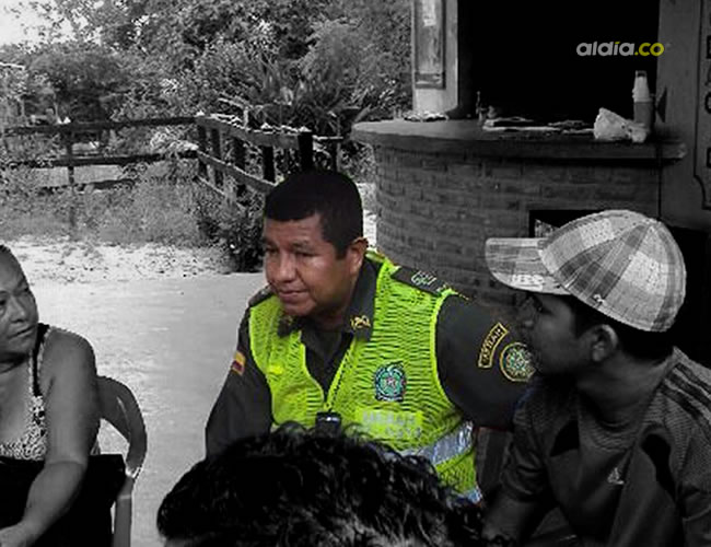 El sargento (r) Juan Manga Acuña cuando aún trabajaba en la Policía | Cortesía