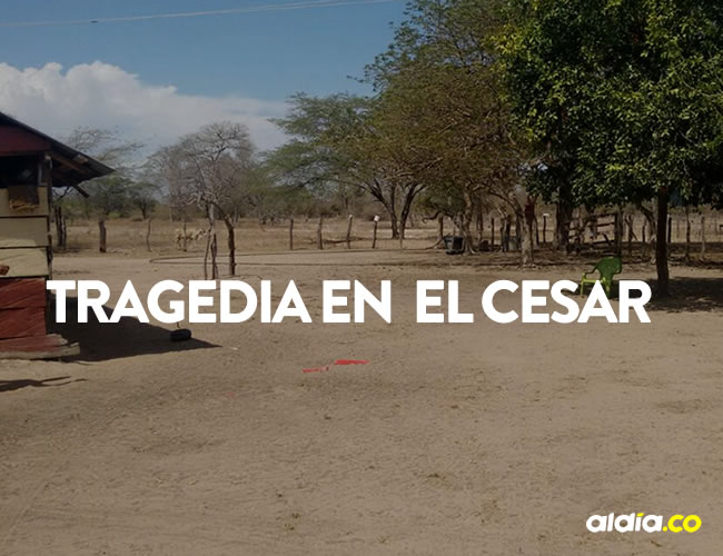 El hecho sucedió a las 2:00 de la madrugada de ayer en la finca Buenos Aires, jurisdicción de El Paso (Cesar) | Cortesía