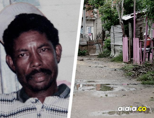 En este punto del corregimiento de Bayunca fue asesinado Alejandro Villar Bellido, de 56 años, en la foto del recuadro. El hombre iba para su casa a la 1:30 de la mañana.