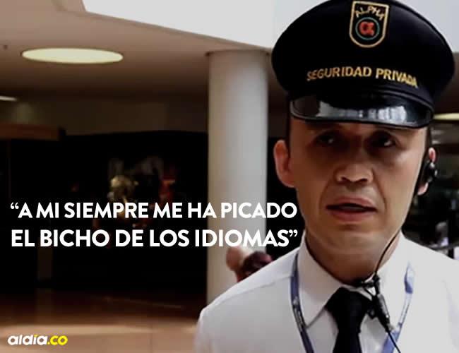 Edilson García ejercer su profesión como vigilante desde el año 1998 | Captura
