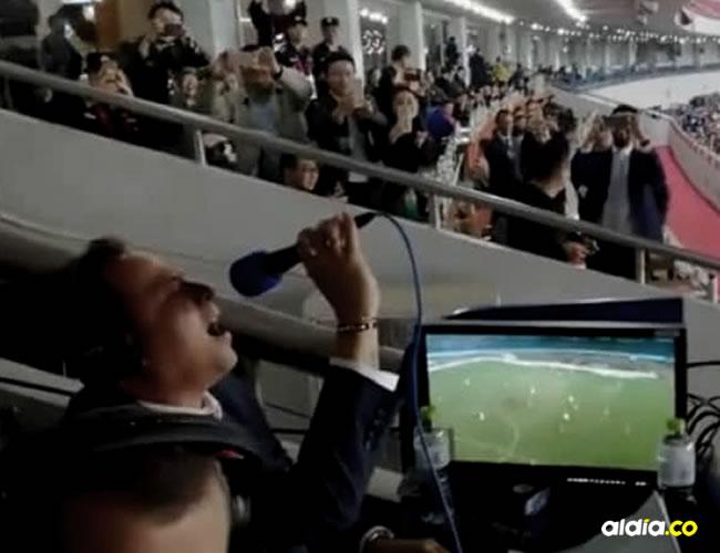Javier Fernández sorprendió a los chinos con su canto de gol | Facebook