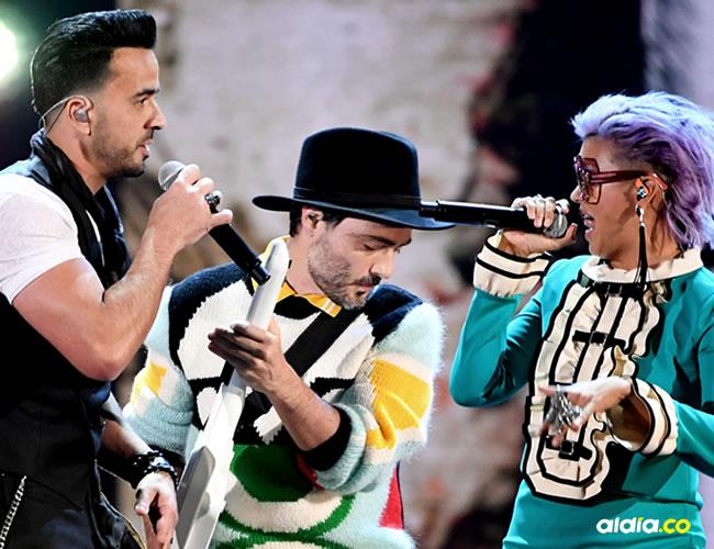 """""""Despacito"""" fue la canción que se llevó cuarto galardones en los Grammy Latino 2017   AFP"""
