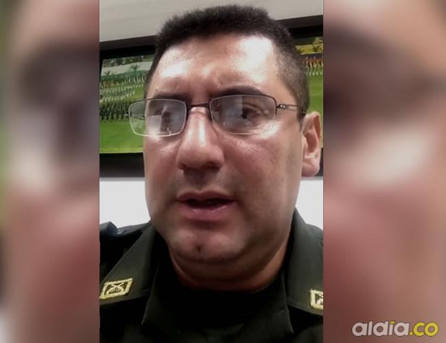 Coronel Julio César Sánchez Molina, comandante de la Policía Nacional en el departamento de Sucre | Captura de YouTube