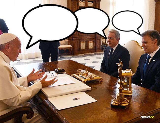 El Presidente Santos le entregó al Papa como recuerdo de su visita una obra de la artista colombiana Ana González Rojas | Vaticano