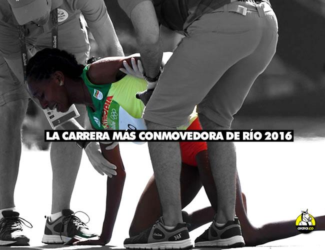 Después de correr casi 1 kilómetro con un solo zapato, Etenesh Diro se desplomó de dolor y tristeza. Los jueces se conmovieron también | ALDIA.CO