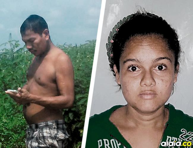 Manuel Márquez Torres, de 43 años, ultimado de 2 tiros. Estefani Julieth Herrera Rúa, de 21 años, la otra occisa. | AL DÍA