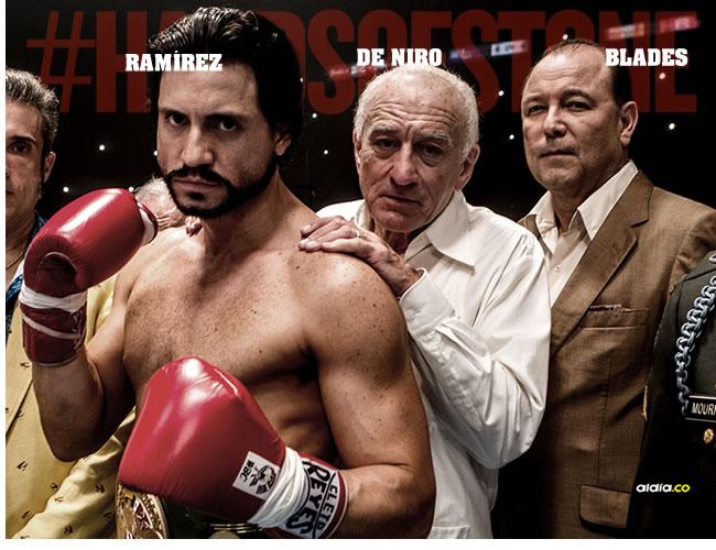 De izquierda a derecha, el actor venezolano Édgar Ramírez; Robert De Niro y el cantante panameño Rubén Blades. | ALDIA.CO