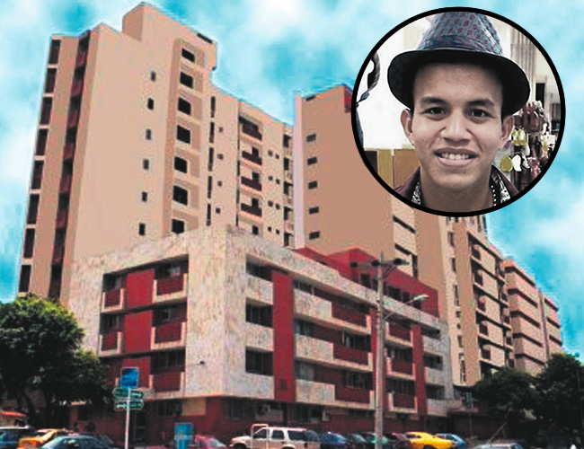 Camilo Ariza está en el Hospital de la Universidad Metropolitana, tras caer de un edificio.   Foto: Archivo