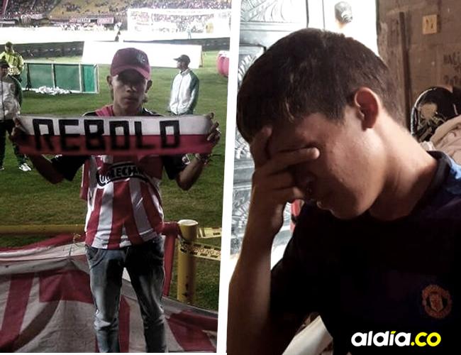 Ronald José Ramírez Fandiño, hermano de Anuar, el joven barrista asesinado este lunes, llora la perdida de su hermano. | El Heraldo