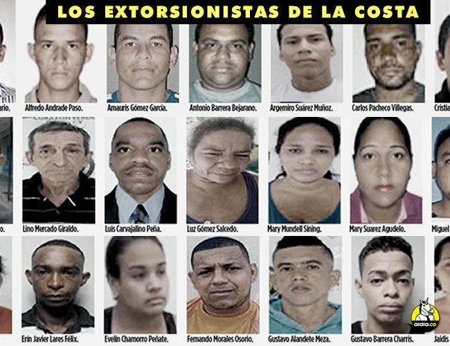 Las autoridades informaron que los detenidos pertenecen a cuatro estructuras delincuenciales dedicadas a la extorsión de comerciantes. | Foto: ALDÍA.CO
