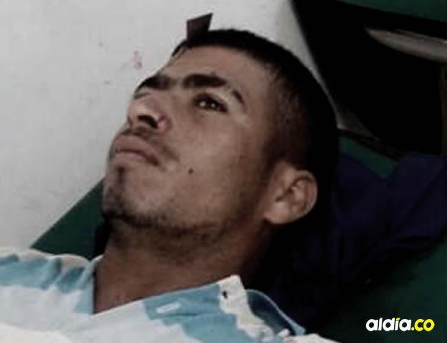 Sampayo mientras esperaba ser atendido en el hospital Sandiego, de Cereté | Cortesía