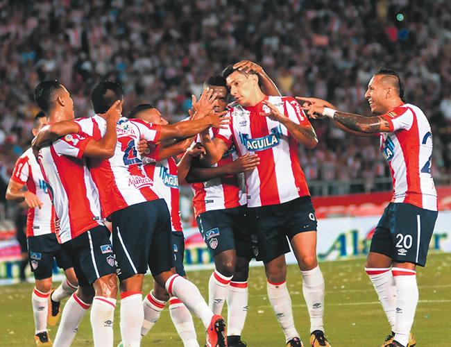 Ovelar marcó el tanto que abrió el partido entre Junior y Tolima. | Foto: Archivo