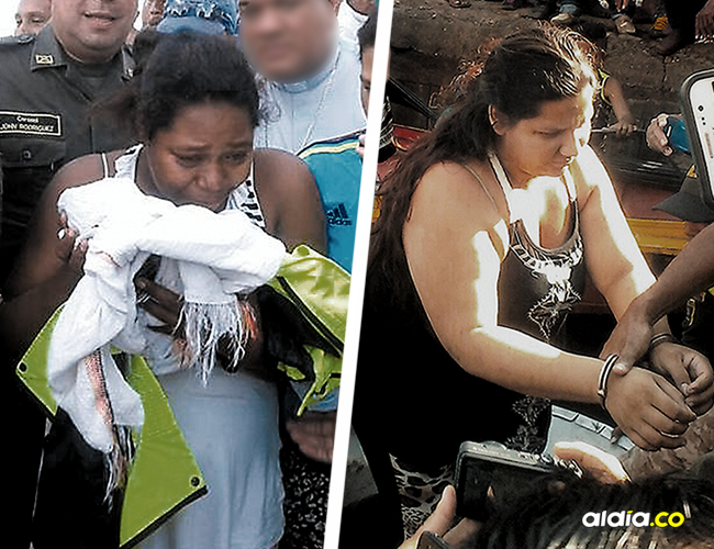 Rita Salas recuperó en la tarde de ayer a su hijo, quien fue raptado por una desconocida.   AL DÍA