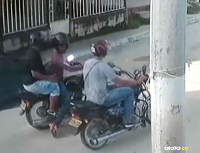 Los bandidos se transportaban en dos motos | Al Día