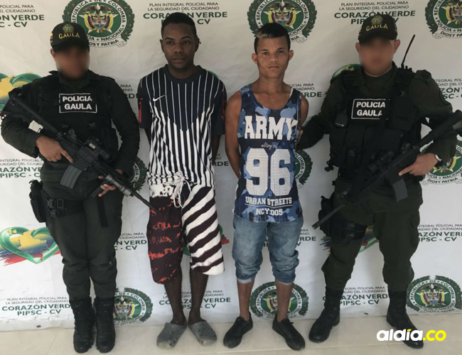 Los capturados responden al nombre de Jorge Camilo Balet Beleño y Raúl Alberto Ballestas, de 26 y 24 años.