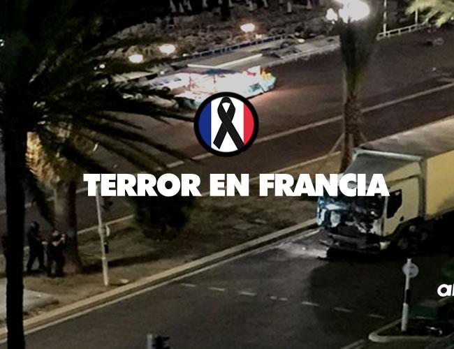 Un camión lanzado contra una multitud durante los festejos del 14 de julio, fiesta nacional francesa | Twitter