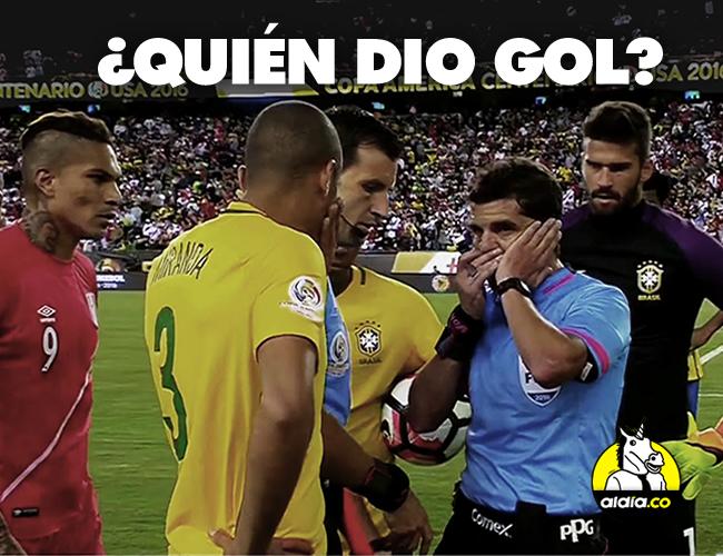 El árbitro Andrés Cunha se demoró varios minutos para validar la anotación de la clasificación inca. | Univisión