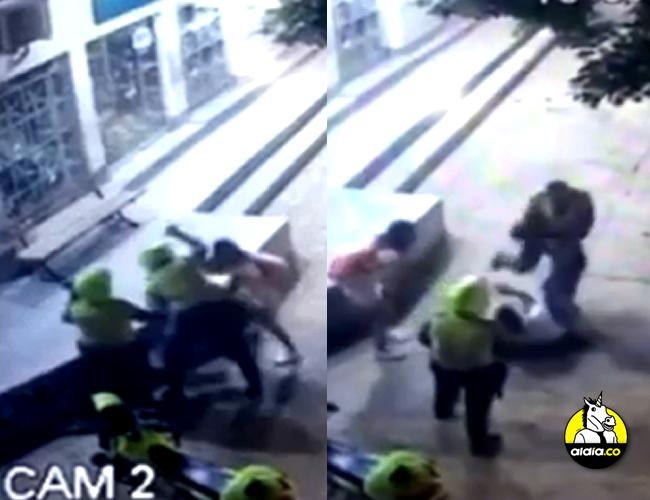 Un nuevo video pone en evidencia la brutalidad del ataque de un patrullero de la Policía a un joven que se habría negado a una requisa | ALDIA.CO